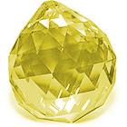 Кристалл подвесной желтый (5 см)