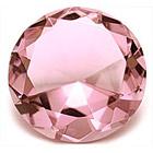 Розовый хрустальный бриллиант  8 см