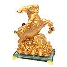 Золотой баран с монетой счастья