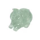Свинка из зеленого флюорита