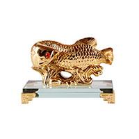 Золотая арована на хрустальной подставке (малая)