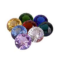 Набор из восьми хрустальных бриллиантов