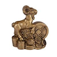 Баран с китайской монетой