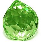 Кристалл подвесной зеленый 3 см