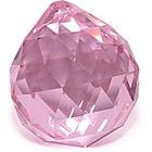 Кристалл подвесной розовый 3 см
