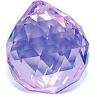 Кристалл подвесной сиреневый (хамелеон) 3 см