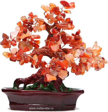 Дерево из сердолика (20см)