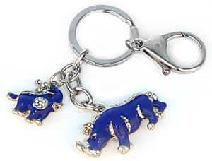 Брелок носорог и слон