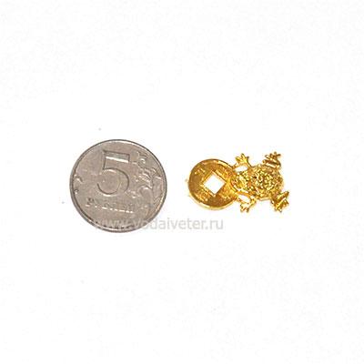 Жаба богатства (для кошелька) золото