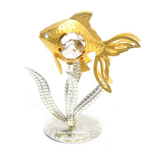 Рыба с кристаллами swarovski