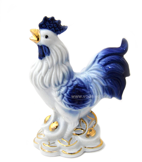 Синий петух (фарфор)