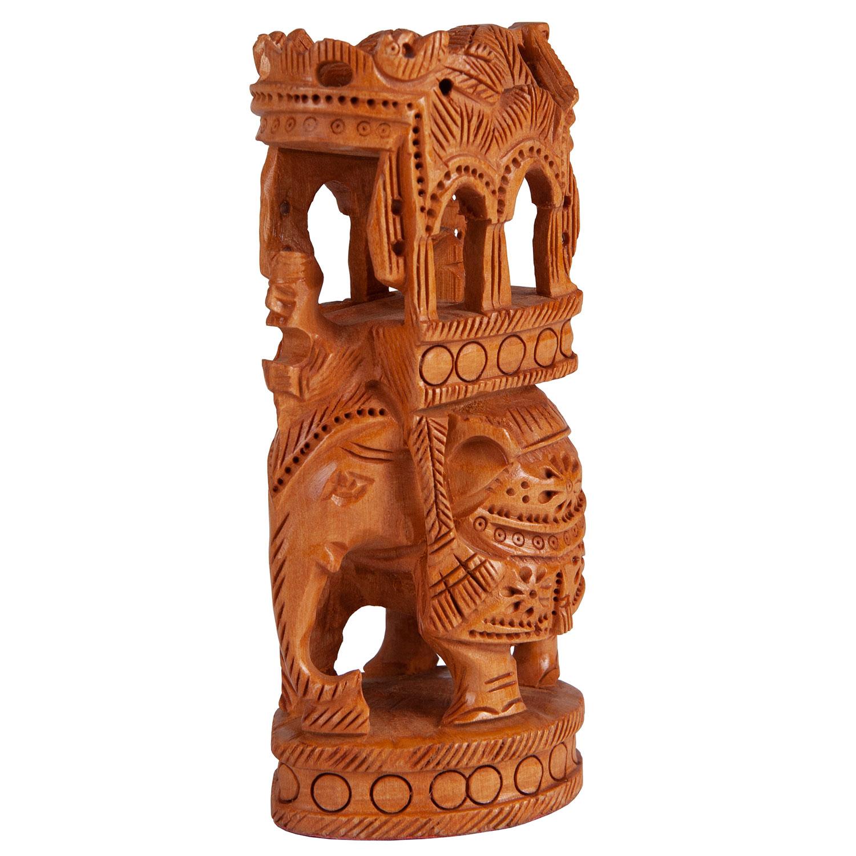 Слон с паланкиной (резное дерево)