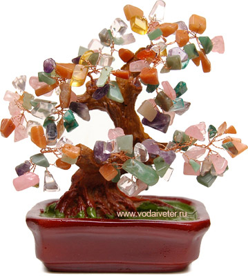 Дерево из самоцветов (20 см)