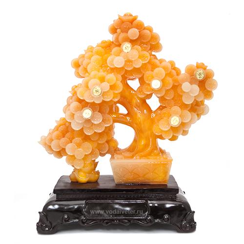 Денежное дерево на деревянной подставке